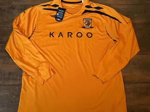2007 2008 Hull City BNWT New Home L/s Football Shirt 2XL XXL